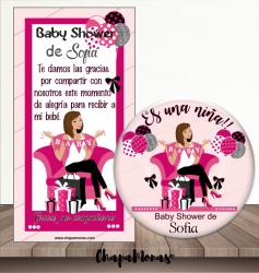 CHAPA BABY SHOWER ES UNA NIÑA