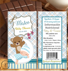 TABLETA DE CHOCOLATE BABY SHOWER