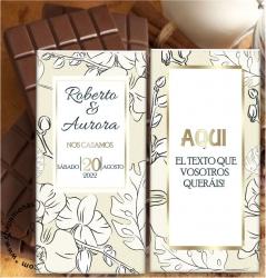 INVITACIONES DE BODA EN TABLETAS DE CHOCOLATE