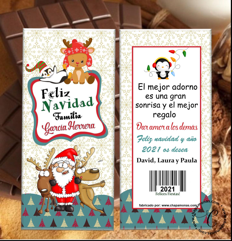 TABLETA DE CHOCOLATE PARA NAVIDAD