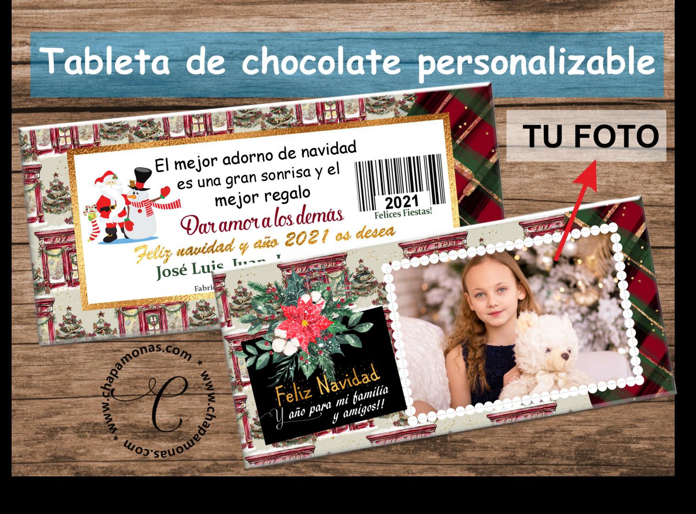 TABLETA DE CHOCOLATE NAVIDAD (Con fotografía)