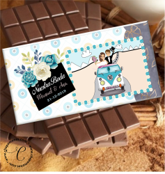 TABLETA DE CHOCOLATE PERSONALIZADA (Boda)