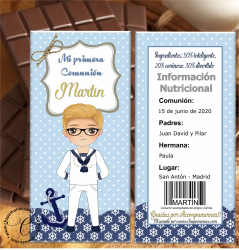 TABLETA DE CHOCOLATE PERSONALIZADA