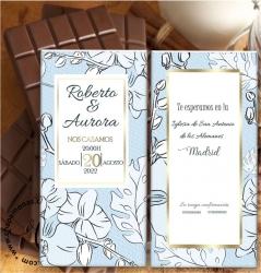 INVITACIONES PARA BODA EN TABLETAS DE CHOCOLATE