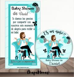 CHAPA BABY SHOWER ES UN NIÑO