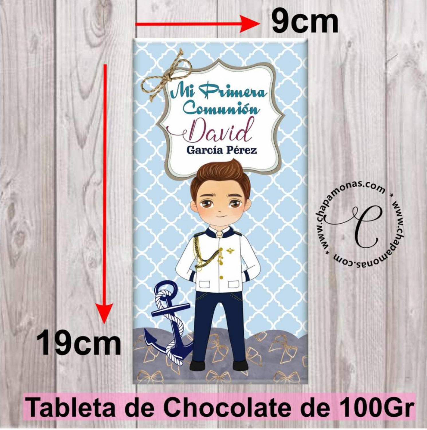 TABLETA DE CHOCOLATE PARA COMUNIÓN