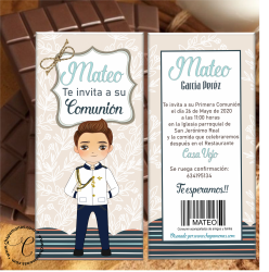 TABLETAS DE CHOCOLATE PERSONALIZADA