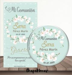 CHAPA PARA COMUNION DE FLORES