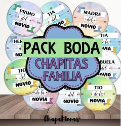 CHAPITAS FAMILY PARA BODA DE 59MM