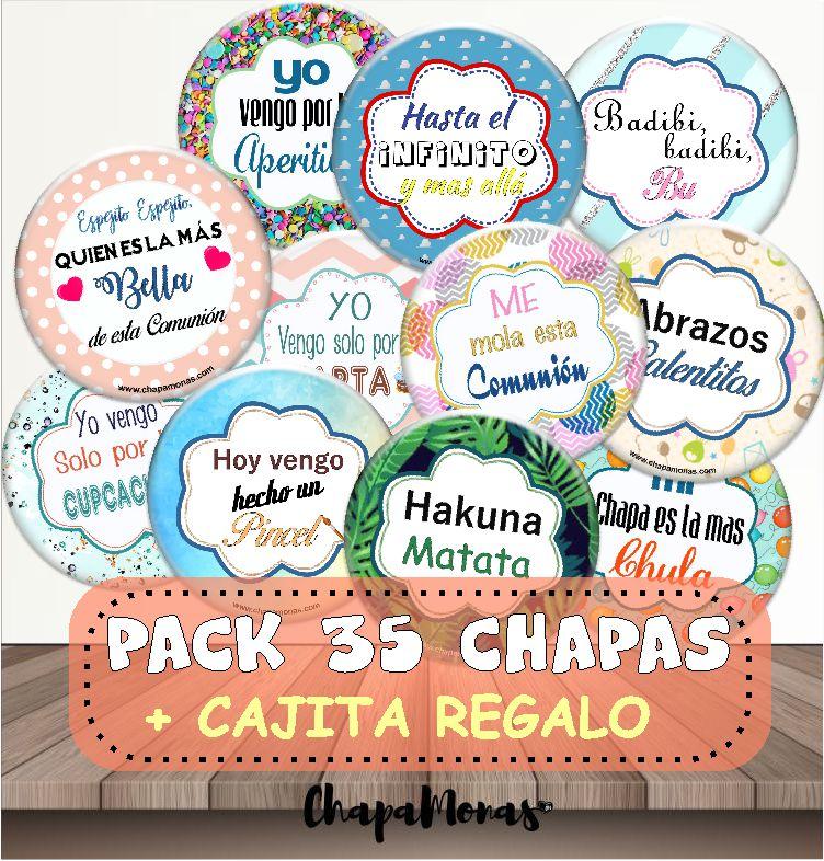 PACK 35 CHAPAS PARA COMUNIÓN