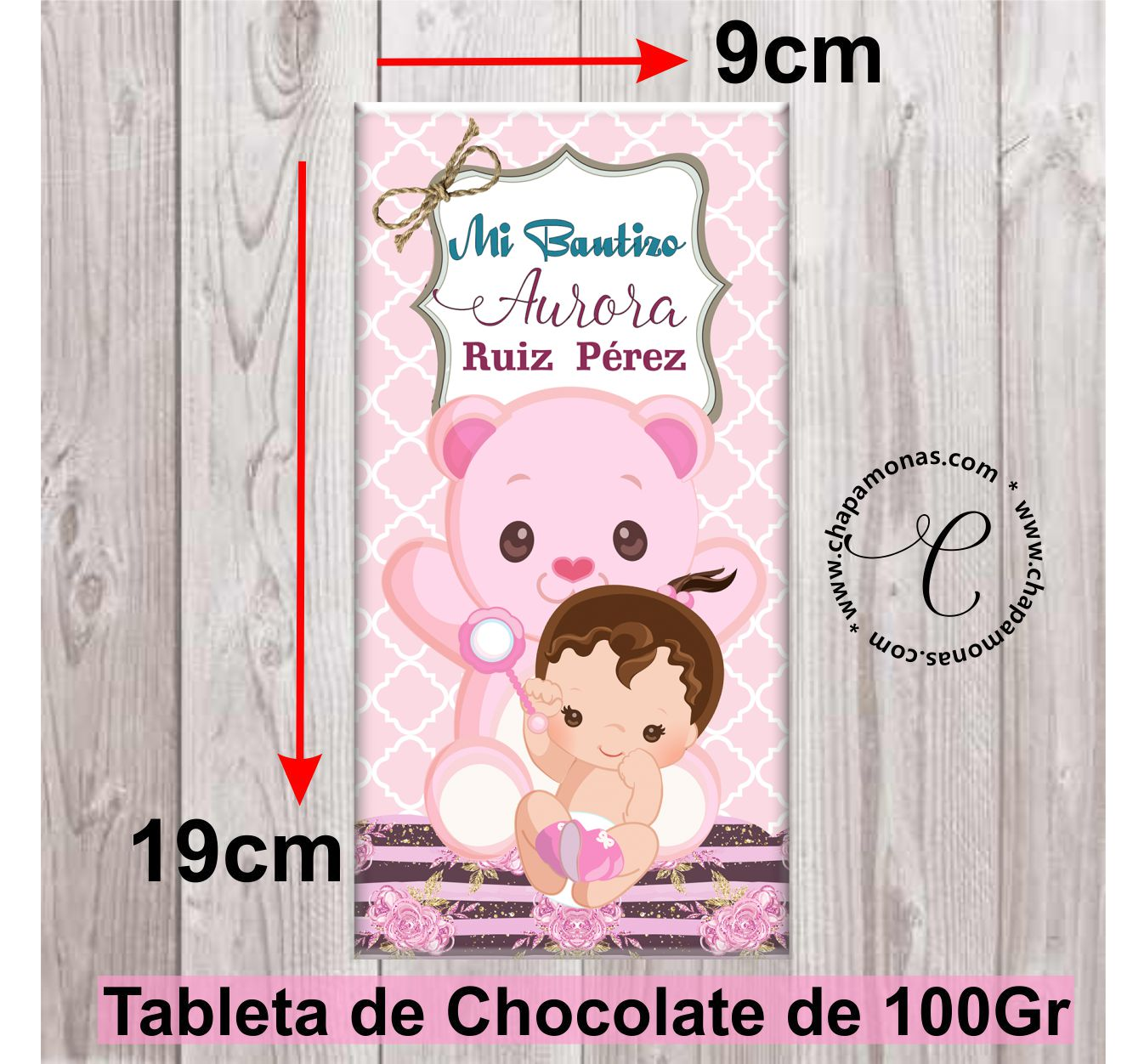 TABLETA DE CHOCOLATE BEBITA (Rubia y Morena)
