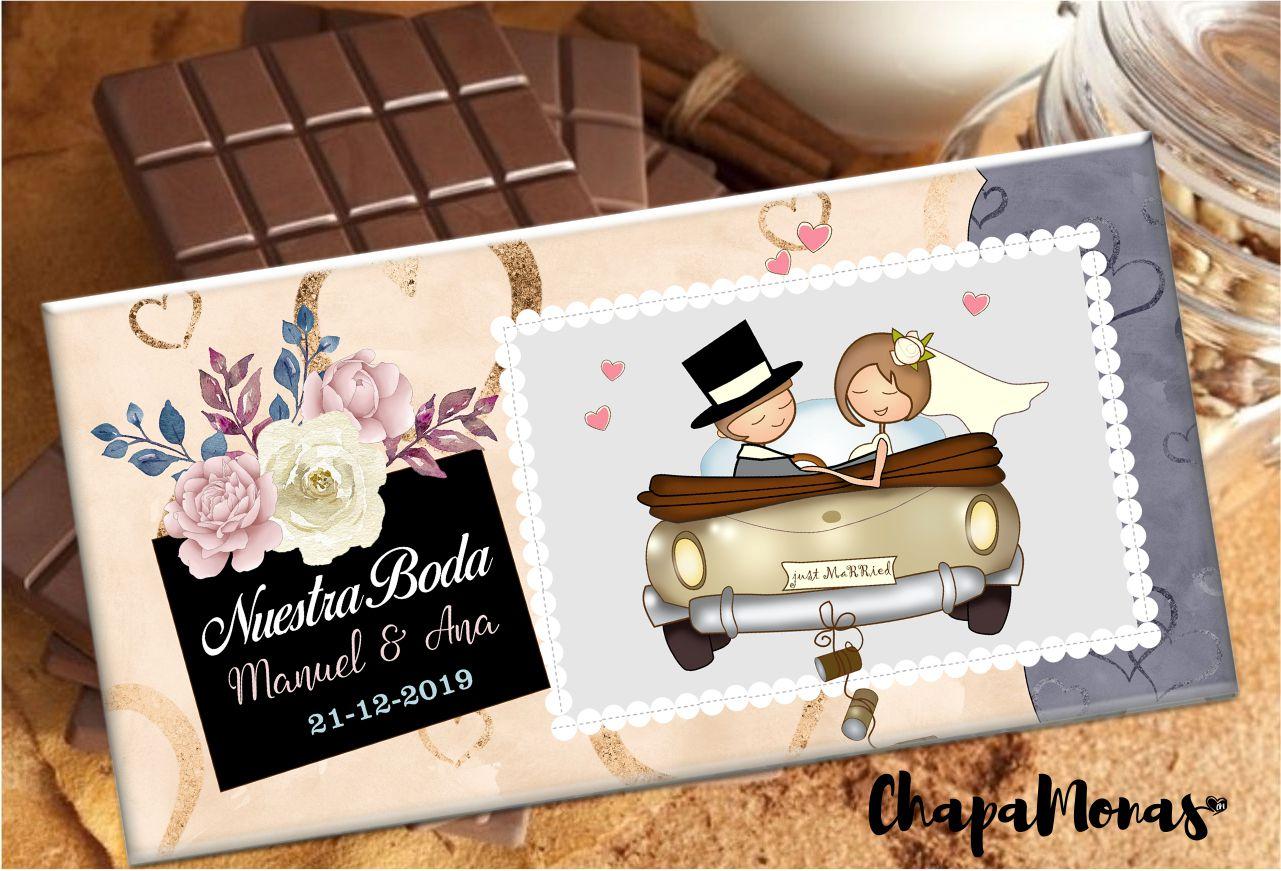 TABLETA DE CHOCOLATE PERSONALIZADA (Boda)