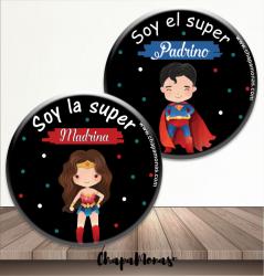 2 CHAPAS ESPECIAL Super padrinos