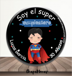 CHAPA DIVER  SOY EL SUPER CUMPLEAÑERO