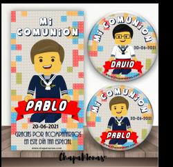 CHAPA LEGO COMUNIÓN Varios Trajes