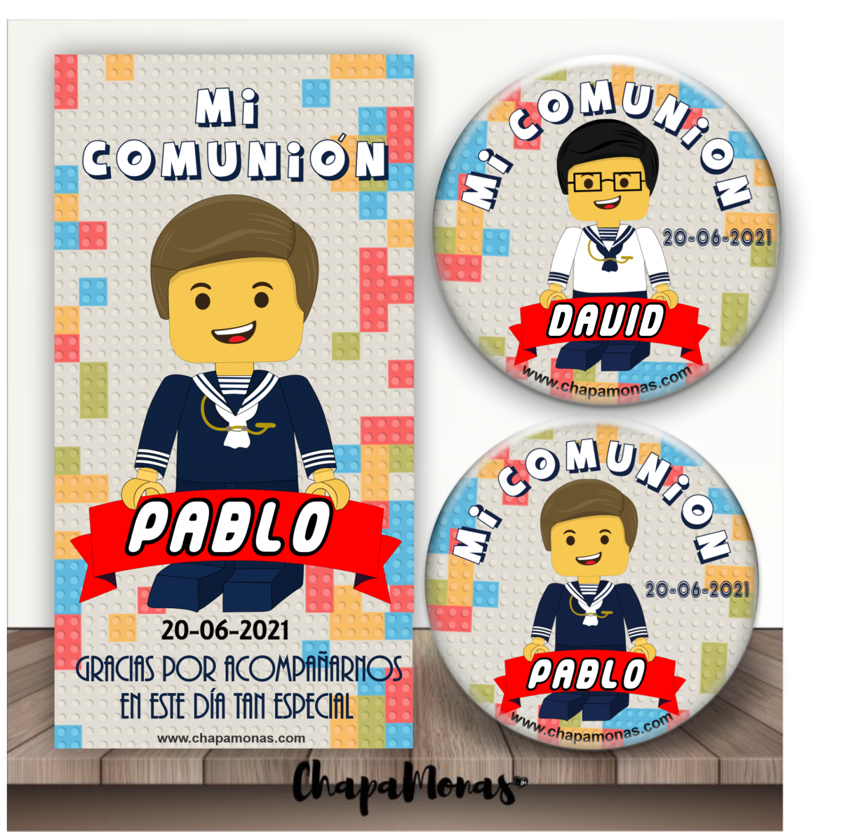 CHAPA LEGO COMUNIÓN
