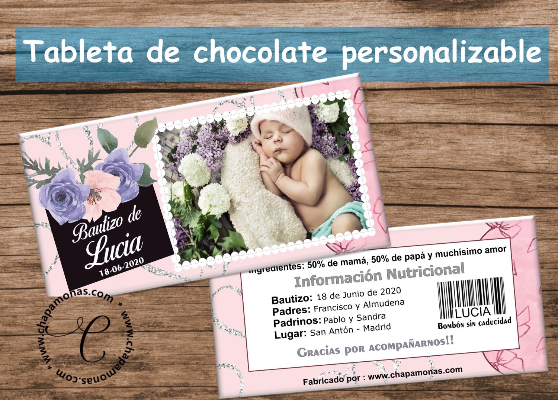 TABLETA DE CHOCOLATE PERSONALIZADA (Con fotografía)