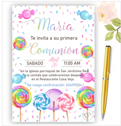INVITACION PARA COMUNIÓN