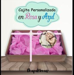 CAJITA PERSONALIZADA BAUTIZO ( Rosa & Azul)